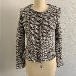 LOFT boucle woven fitted blazer